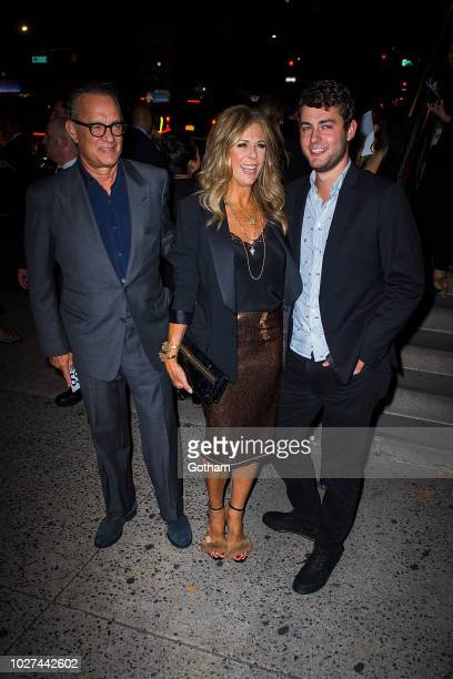 Tom Hanks Rita Wilson and Truman Theodore Hanks are seen attending the Tom Ford fashion during New York Fashion Week at the Park Avenue Armory in the...