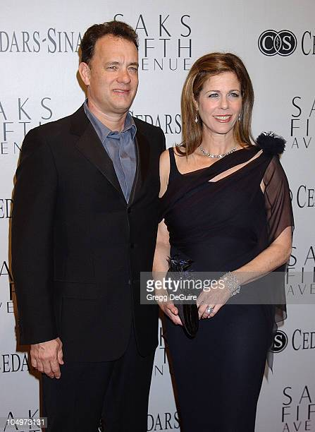 Tom Hanks Rita Wilson during Sir Elton John Is Honored At 'An Unforgettable Evening' Presented By Saks Fifth Avenue at The Regent Beverly Wilshire in...