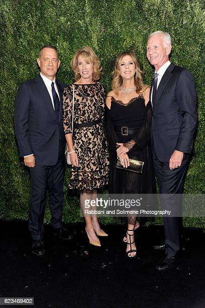Tom Hanks Rita Wilson Lorrie Sullenberger and Chesley Sullenberger attend the 2016 Museum Of Modern Art Film Benefit presented by Chanel A Tribute To...