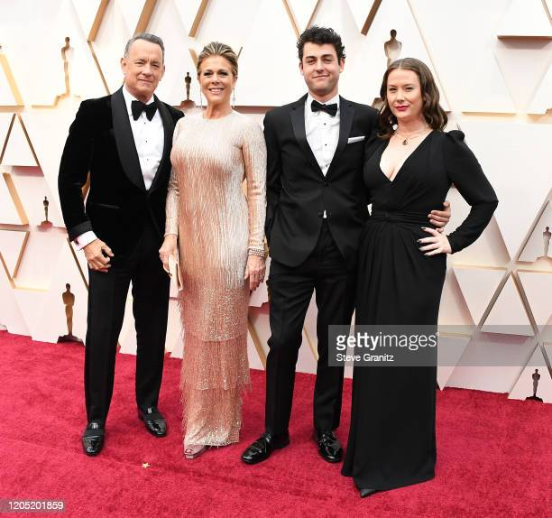 Tom Hanks Rita Wilson Truman Theodore Hanks and Elizabeth Hanks arrives at the 92nd Annual Academy Awards at Hollywood and Highland on February 09...