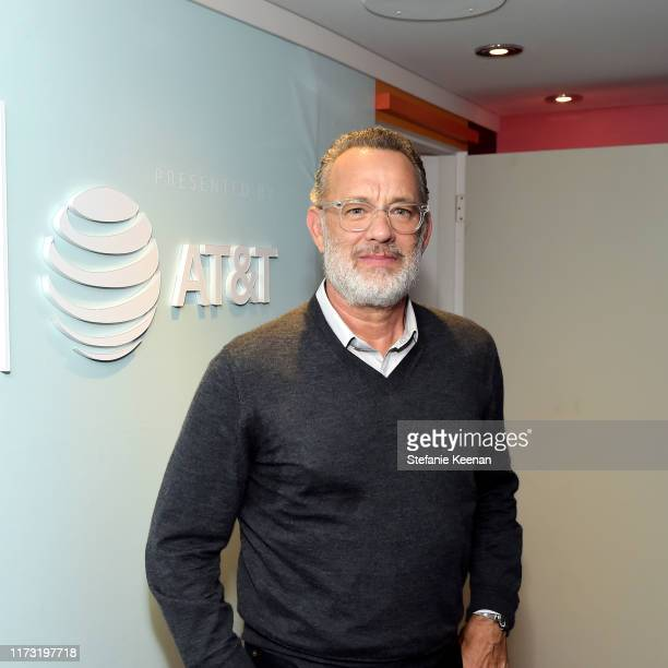 Tom Hanks stops by ATT ON LOCATION during Toronto International Film Festival 2019 at Hotel Le Germain on September 08 2019 in Toronto Canada