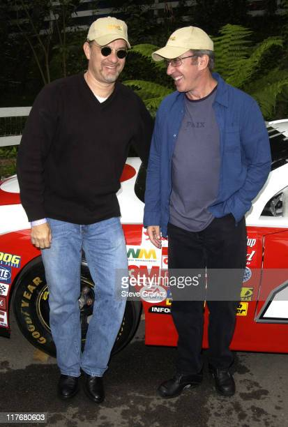 Tom Hanks Tim Allen at the Target A Time for Heroes Celebrity Carnival Benefitting the Elizabeth Glaser Pediatric AIDS Foundation