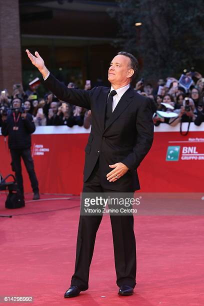Tom Hanks walks a red carpet on October 13 2016 in Rome Italy