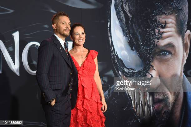 Tom Hardy and Chairman of Sony Pictures Entertainment Thomas Kelly Marcel attend the premiere of Columbia Pictures' 'Venom' at Regency Village...