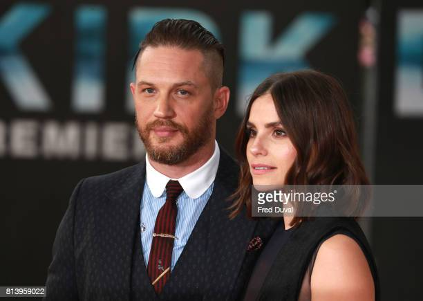 Tom Hardy and Charlotte Riley arrive at the 'Dunkirk' World Premiere at Odeon Leicester Square on July 13 2017 in London England