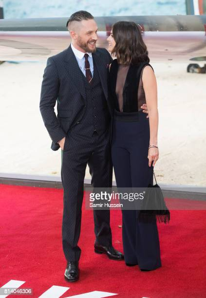 Tom Hardy and Charlotte Riley arriving at the Dunkirk World Premiere at Odeon Leicester Square on July 13 2017 in London England