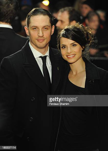 Tom Hardy and Charlotte Riley attend a screening of 'Locke' during the 57th BFI London Film Festival at Odeon West End on October 18 2013 in London...