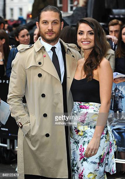 Tom Hardy and Charlotte Riley attend The Dark Knight Rises European Premiere on July 18 2012 at the Odeon Cinema Leicester Square in London