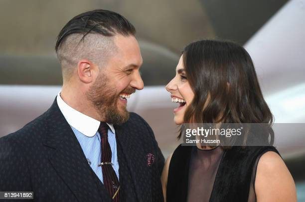 Tom Hardy and Charlotte Riley attend the 'Dunkirk' World Premiere at Odeon Leicester Square on July 13 2017 in London England