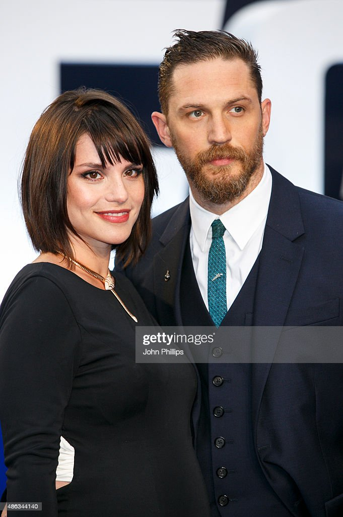 Tom Hardy and Charlotte Riley attend the UK Premiere of 'Legend' at Odeon Leicester Square on September 3, 2015 in London, England.