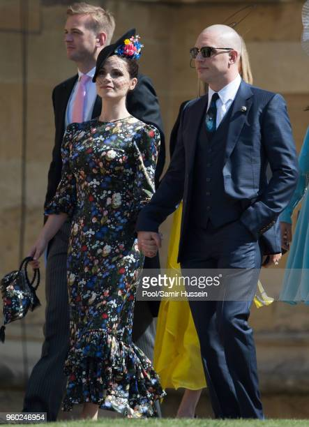 9 Tom Hardy and Charlotte Riley attend the wedding of Prince Harry to Ms Meghan Markle at St George's Chapel Windsor Castle on May 19 2018 in Windsor...