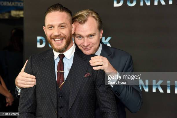 Tom Hardy and director Christopher Nolan attend the preview screening of Dunkirk at BFI Southbank on July 13 2017 in London England