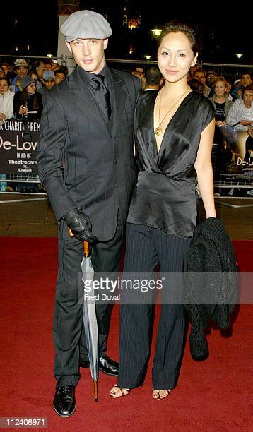 Tom Hardy and Linda Parker during 'DeLovely' London Premiere Arrivals at Empire Leicester Square in London Great Britain