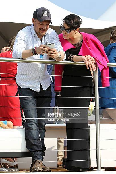 Tom Hardy and Noomi Rapace attend day one of the Audi Polo Challenge at Coworth Park on May 28 2016 in London England