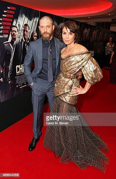 Tom Hardy and Noomi Rapace attend the UK Premiere of 'Child 44' at Vue West End on April 16 2015 in London England