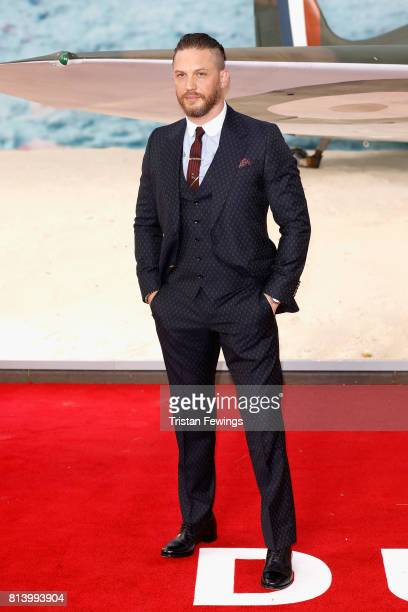 Tom Hardy arrives at the 'Dunkirk' World Premiere at Odeon Leicester Square on July 13 2017 in London England
