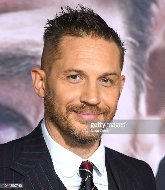 """Tom Hardy arrives at the Premiere Of Columbia Pictures' """"Venom"""" at Regency Village Theatre on October 1, 2018 in Westwood, California."""