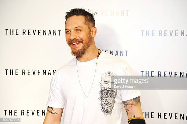 Tom Hardy attends a BAFTA screening of 'The Revenant' at Empire Leicester Square on December 6, 2015 in London, England.