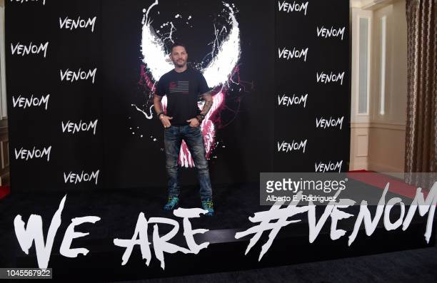 """Tom Hardy attends a photo call for Columbia Pictures' """"Venom"""" at the Four Seasons Hotel Los Angeles at Beverly Hills on September 27, 2018 in Los..."""