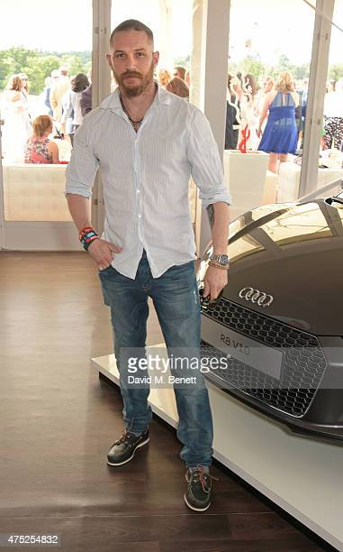 Tom Hardy attends day one of the Audi Polo Challenge at Coworth Park on May 30 2015 in London England
