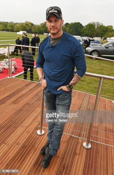 Tom Hardy attends the Audi Polo Challenge at Coworth Park on May 6 2017 in Ascot United Kingdom
