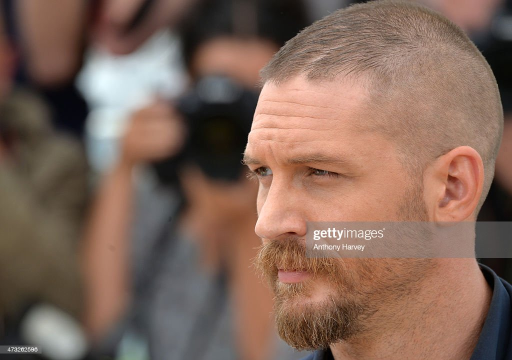 Tom Hardy attends the 'Mad Max: Fury Road' photocall during the 68th annual Cannes Film Festival on May 14, 2015 in Cannes, France.