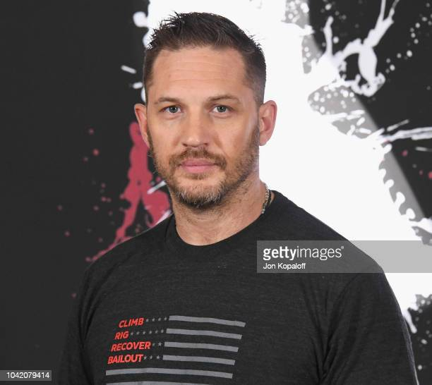 """Tom Hardy attends the photo call for Columbia Pictures' """"Venom"""" at Four Seasons Hotel Los Angeles at Beverly Hills on September 27, 2018 in Los..."""