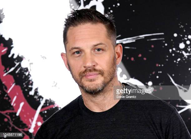 """Tom Hardy attends the photo call for Columbia Pictures' """"Venom"""" at the Four Seasons Hotel Los Angeles at Beverly Hills on September 27, 2018 in Los..."""
