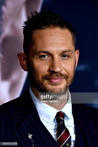 """Tom Hardy attends the Premiere Of Columbia Pictures' """"Venom"""" at Regency Village Theatre on October 1, 2018 in Westwood, California."""