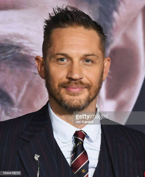 Tom Hardy attends the premiere of Columbia Pictures' Venom at Regency Village Theatre on October 1 2018 in Westwood California