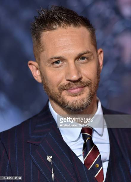 Tom Hardy attends the premiere of Columbia Pictures' 'Venom' at Regency Village Theatre on October 1, 2018 in Westwood, California.