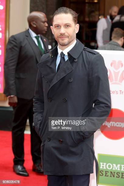 Tom Hardy attends 'The Prince's Trust' and TKMaxx with Homesense Awards at London Palladium on March 6 2018 in London England