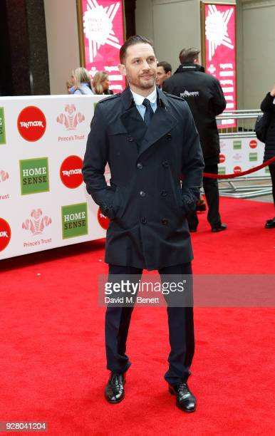 Tom Hardy attends 'The Prince's Trust' and TKMaxx with Homesense Awards at The London Palladium on March 6 2018 in London England