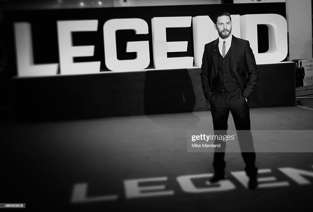 Tom Hardy attends the UK Premiere of 'Legend' at Odeon Leicester Square on September 3, 2015 in London, England.
