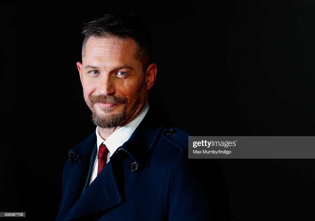 Tom Hardy attends the UK Premiere of 'The Revenant' at the Empire Leicester Square on January 14, 2016 in London, England.