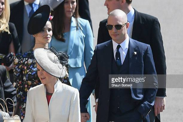 Tom Hardy attends the wedding of Prince Harry to Ms Meghan Markle at St George's Chapel Windsor Castle on May 19 2018 in Windsor England Prince Henry...