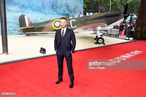 Tom Hardy attends the world premiere of Dunkirk at Odeon Leicester Square on July 13 2017 in London England