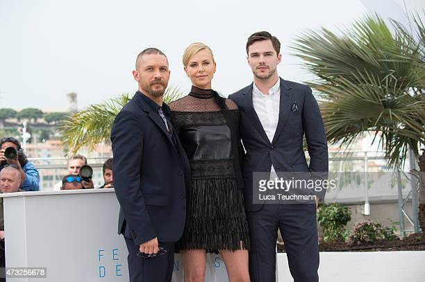 "Tom Hardy, Charlize Theron and Nicholas Hoult attends the ""Mad Max: Fury Road Photocall Photocall during the 68th annual Cannes Film Festival on May..."