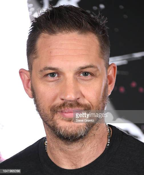 """Tom Hardy poses at the Photo Call For Columbia Pictures' """"Venom"""" at Four Seasons Hotel Los Angeles at Beverly Hills on September 27, 2018 in Los..."""