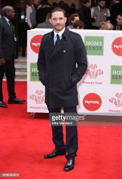 Tom Hardyattends 'The Prince's Trust' and TKMaxx with Homesense Awards at London Palladium on March 6 2018 in London England