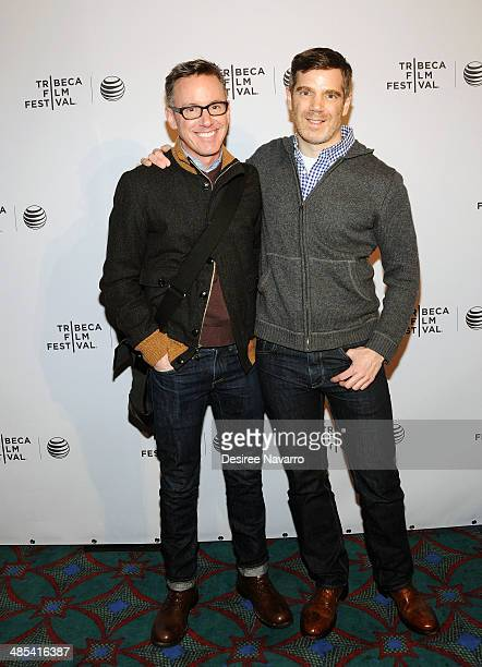 Tom Harrington and 'One Year Lease' director Brian Bolster attend the Shorts Program City Limits during the 2014 Tribeca Film Festival at AMC Loews...