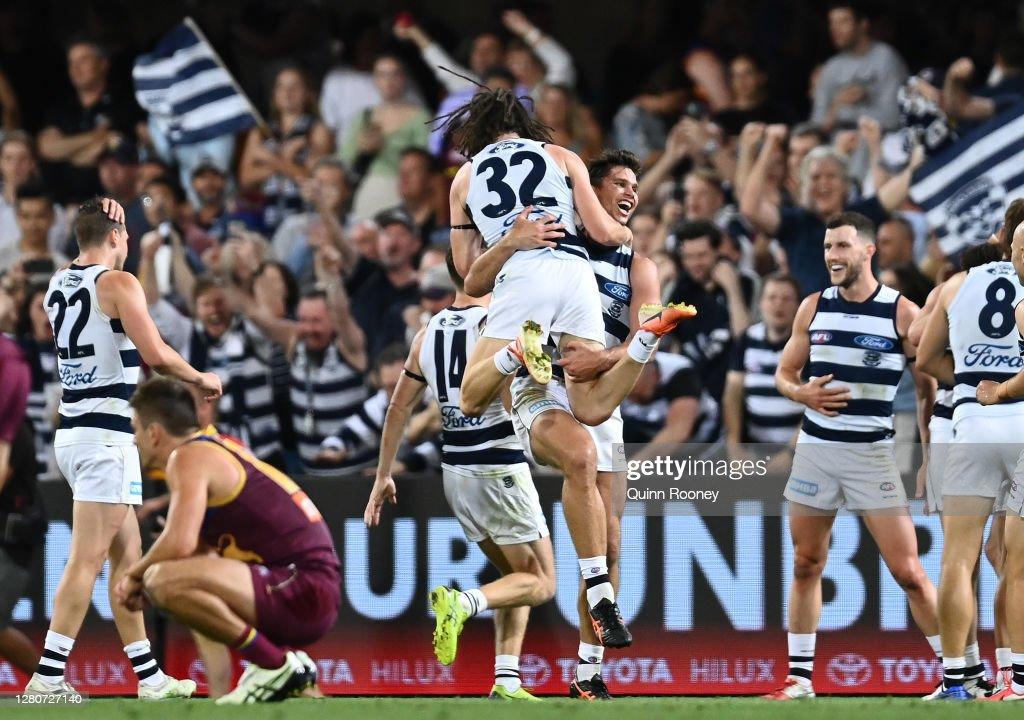 AFL 2nd Preliminary Final - Brisbane v Geelong : News Photo