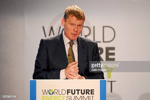 Tom Heap of BBC Broadcaster, Energy and Environment, UK during the 2012 World Future Energy Summit - Day Two held at the Abu Dhabi National...