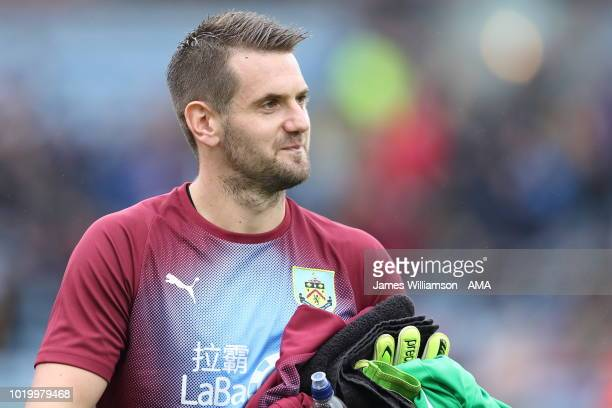 Tom Heaton of Burnley during the Premier League match between Burnley FC and Watford FC at Turf Moor on August 19 2018 in Burnley United Kingdom