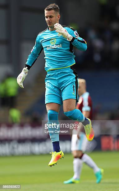 Tom Heaton of Burnley during the Premier League match between Burnley and Cardiff City at Turf Moor on August 13 2016 in Burnley England