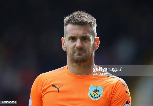 Tom Heaton of Burnley during the Premier League match between Burnley and Crystal Palace at Turf Moor on September 10 2017 in Burnley England