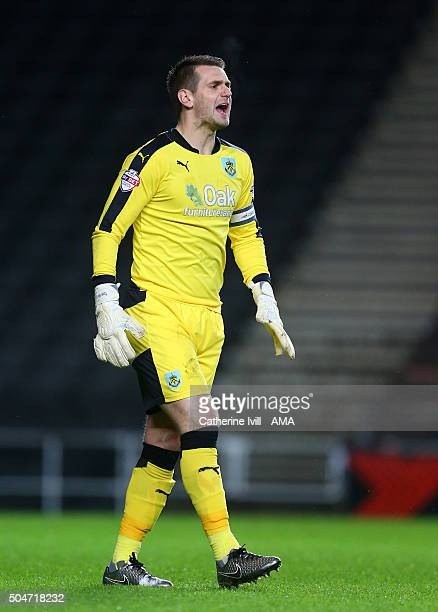 Tom Heaton of Burnley during the Sky Bet Championship match between MK Dons and Burnley at Stadium mk on January 12 2016 in Milton Keynes England