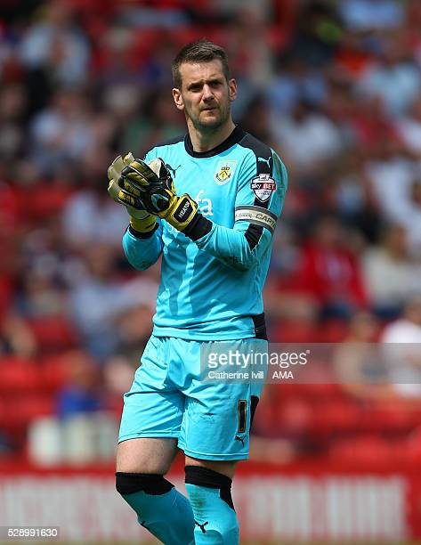 Tom Heaton of Burnley during the Sky Bet Championship match between Charlton Athletic and Burnley at The Valley on May 7 2016 in London United Kingdom