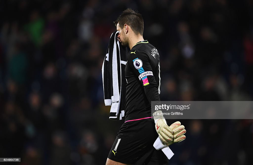 Tom Heaton of Burnley looks dejected in defeat after the Premier League match between West Bromwich Albion and Burnley at The Hawthorns on November 21, 2016 in West Bromwich, England.