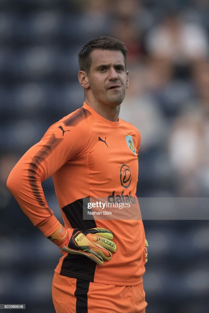 Tom Heaton of Burnley looks on during the pre season friendly match between Preston North End and Burnley at Deepdale on July 25, 2017 in Preston, England.